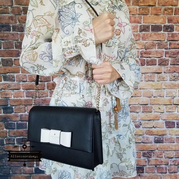 ef0f9644085f kate spade Bags | Robinson Street Zanni Black Bow Bag | Poshmark